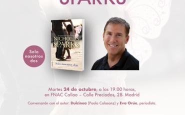 El autor de las grandes historias de amor visita Madrid los días 23 y 24 de octubre