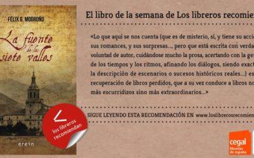 """""""La fuente de los siete valles"""", de Félix G. Modroño Libro de la semana por Los Libreros recomiendan"""