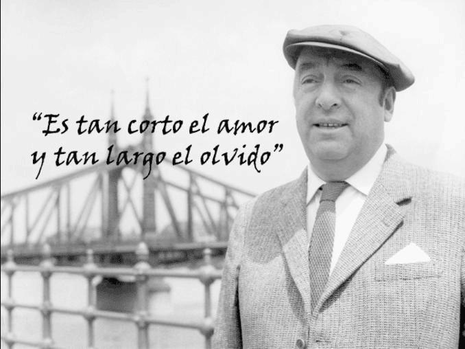 Quince frases de amor de Pablo Neruda