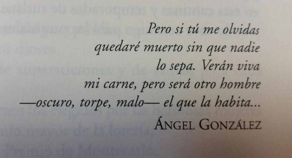 Cita de Ángel González 1925-2008