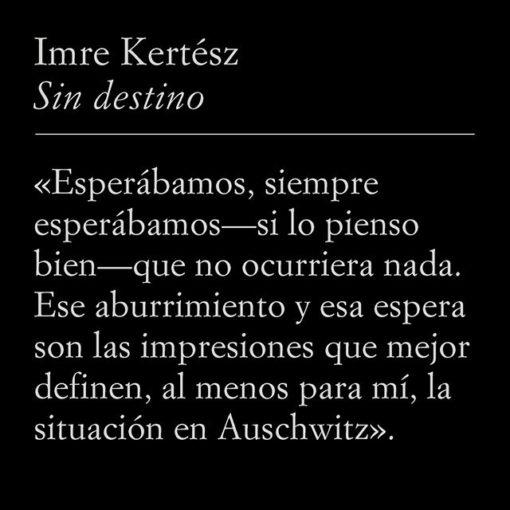 Cita de Imre Kertész: #HolocaustMemorialDay #Auschwitz75