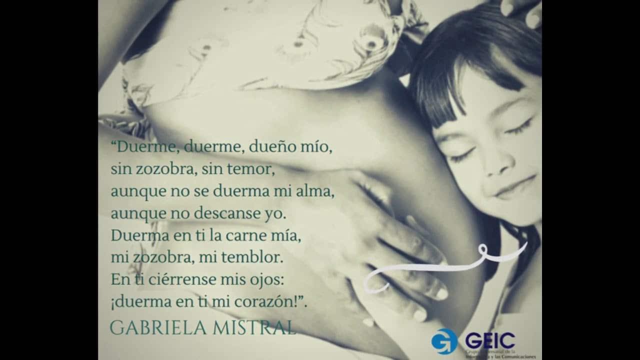 Versos de Gabriela Mistral