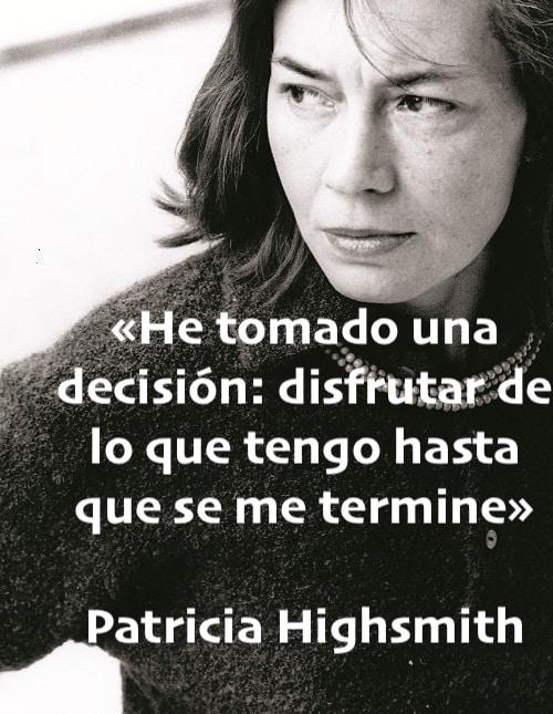 Cita de Patricia Highsmith