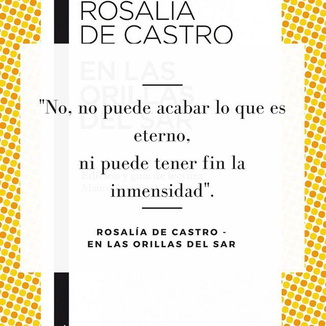 Cita de Rosalía de Castro en el 183º aniversario de su nacimiento