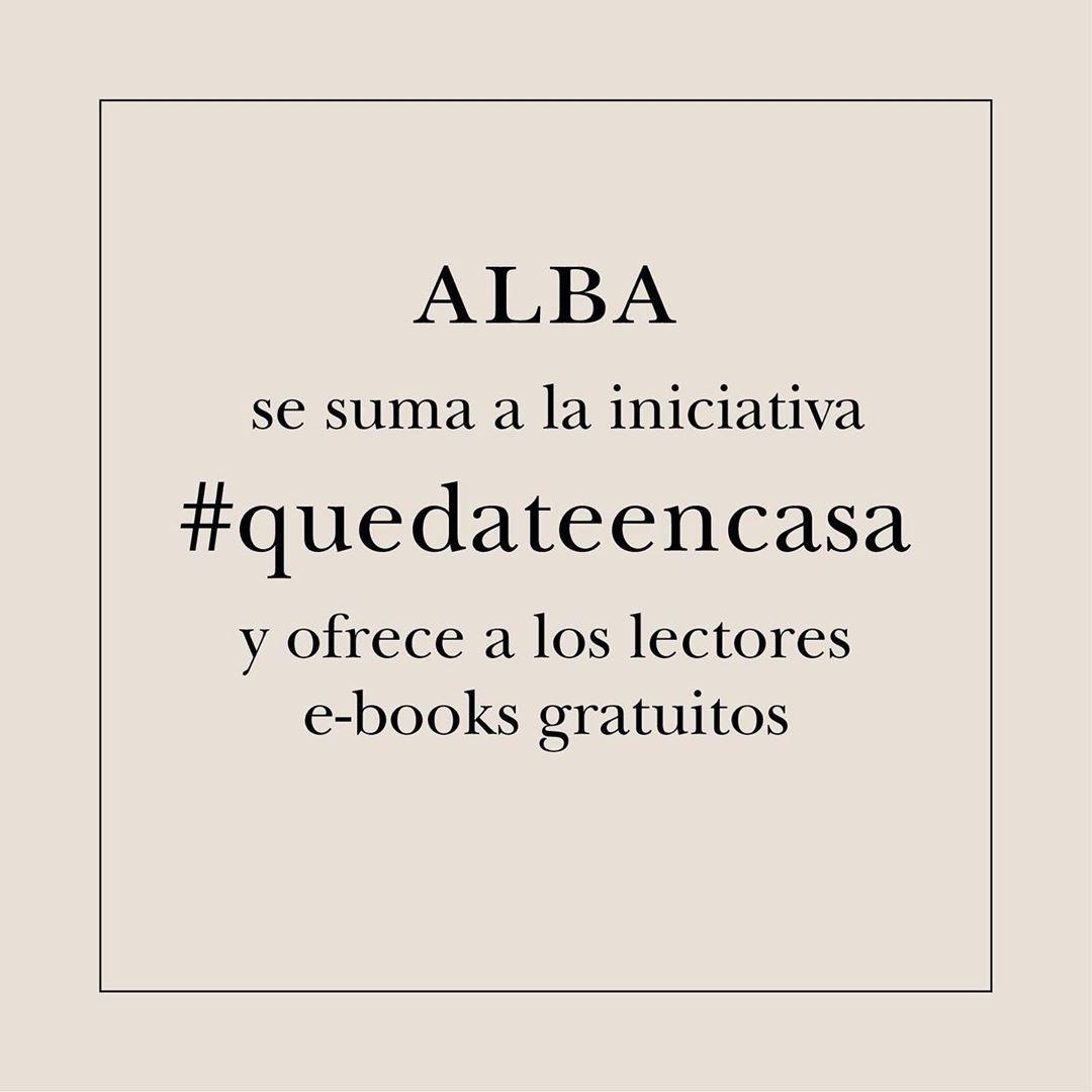 Alba Editorial se suma a la iniciativa #yomequedoencasaleyendo y ofrece 8 ebooks para leer gratis