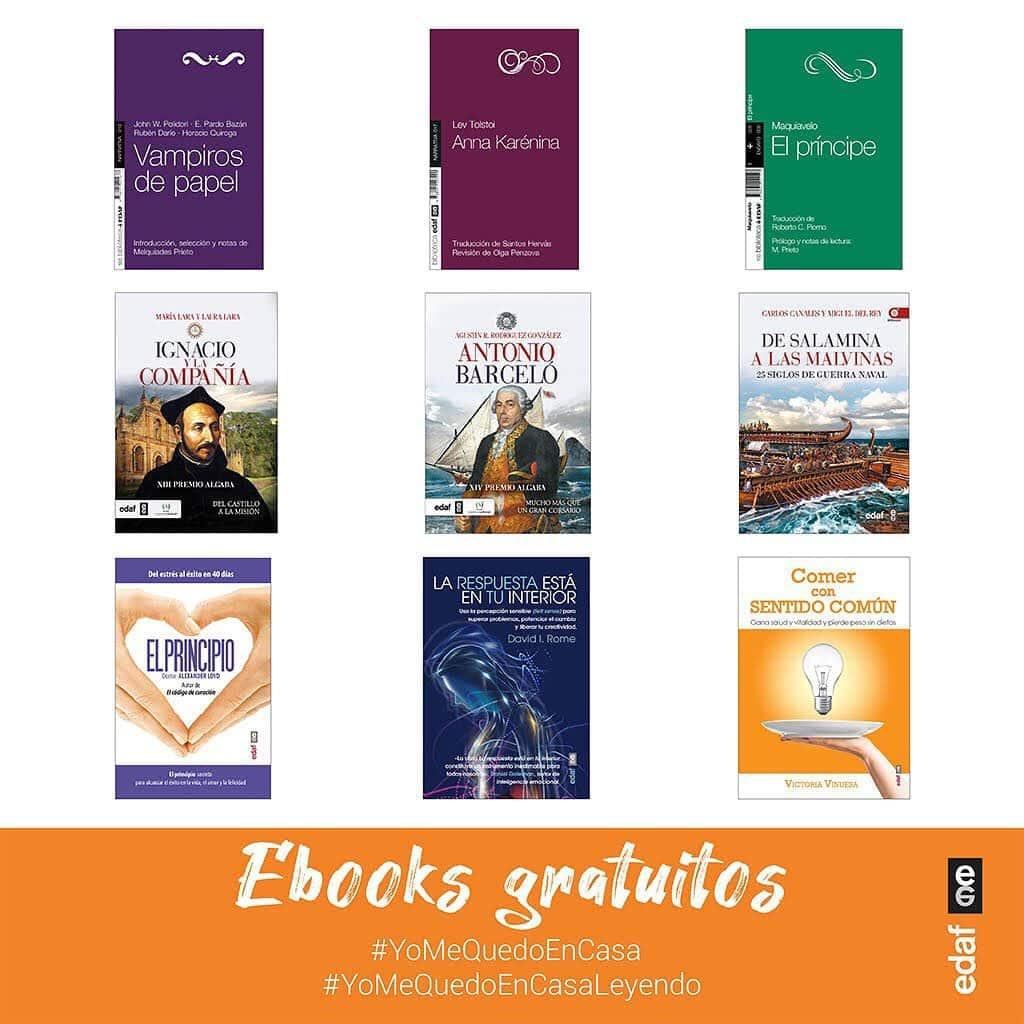 @editorialedaf ofrece estos 9 ebooks gratis hasta el 5 de abril