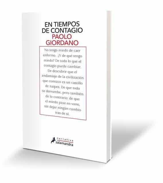 EN TIEMPOS DE CONTAGIO, el nuevo, necesario libro de Paolo Giordano, en eBook el 26 de marzo, en audiolibro el 31 de marzo y en papel el 16 de abril