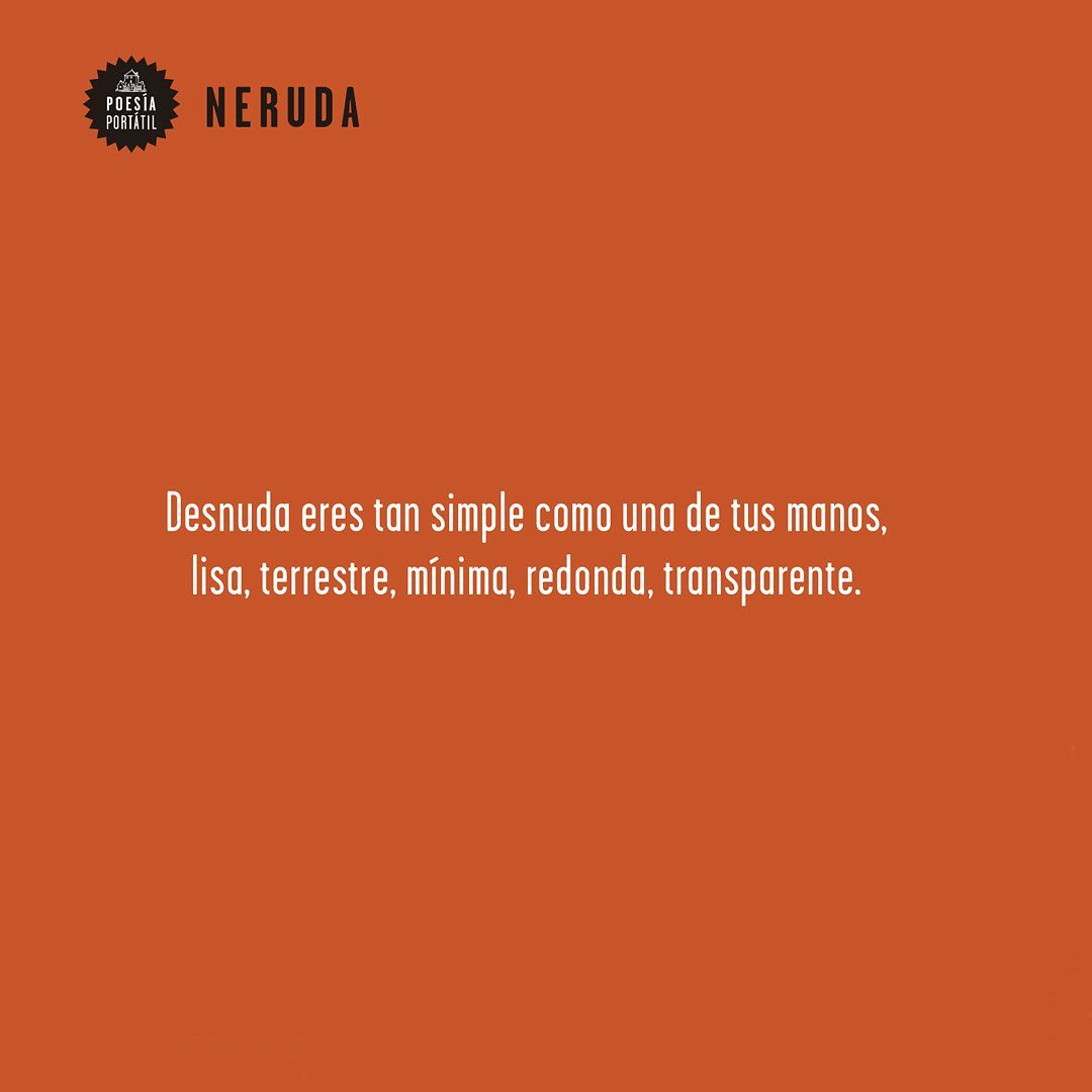 Cita de Pablo Neruda
