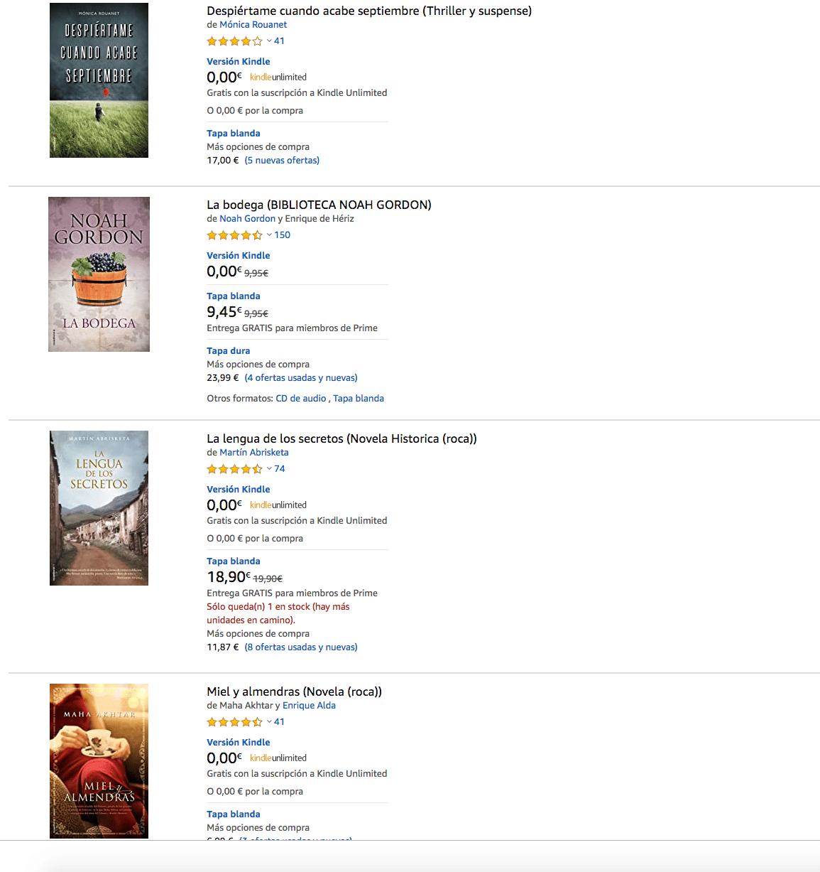 Mónica Rouanet, Noah Gordon, Martín Abrisketa y Maha Akhtar los 4 ebooks gratuitos más bajados en Amazon @rocaeditorial