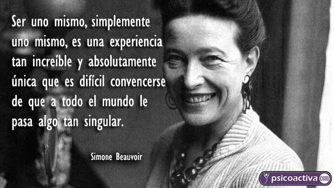 Cita de Simone de Beauvoir