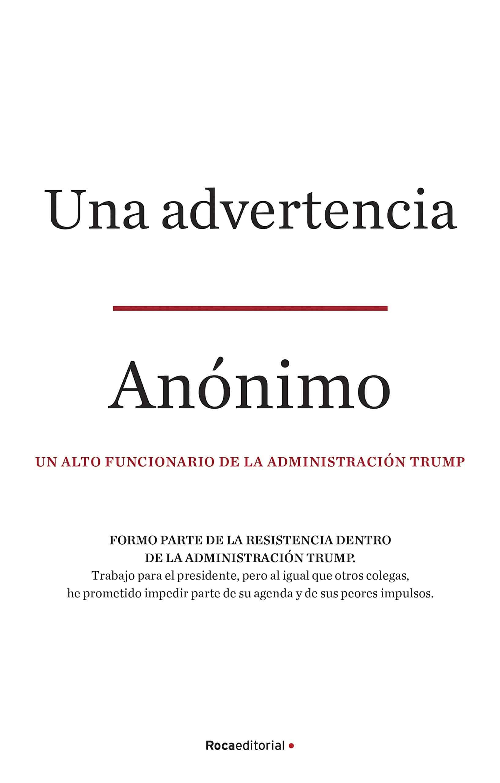 «Una advertencia» El libro político del año @rocaeditorial