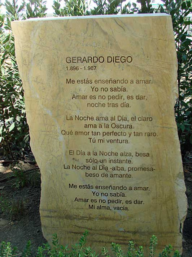 """""""Me estás enseñando"""" Gerardo Diego"""
