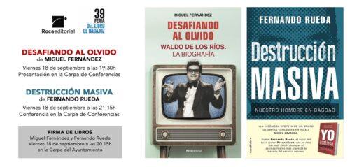 Viernes 18 a las 18:30 en la Feria del Libro de Badajoz @mglfedz y @fernando_rueda firmarán sus libros