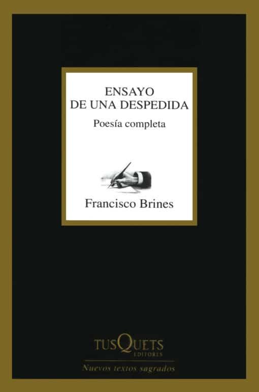 Ensayo de una despedida Poesía completa de FRANCISCO BRINES Premio Cervantes 2020