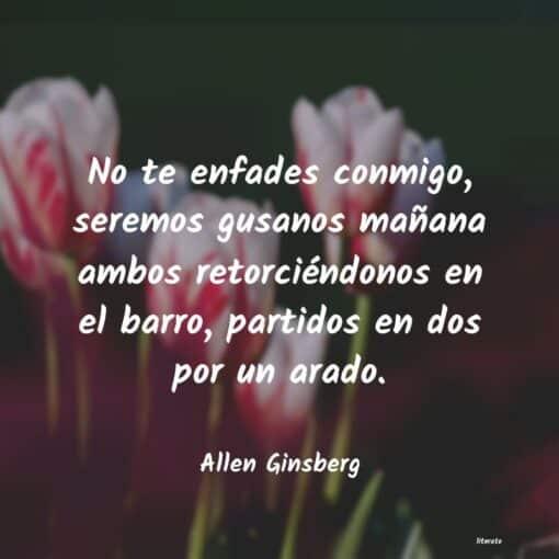 Cita del poeta Allan Ginsberg que murió tal día como hoy 5 de abril