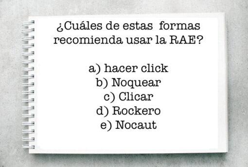 ¿Cuáles de estas  formas recomienda usar la RAE?