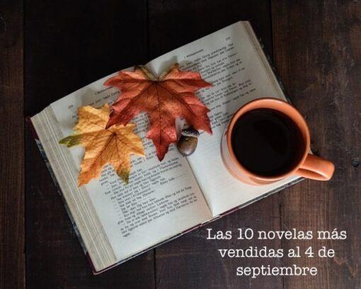 Las 10 novelas más vendidas al 4 de septiembre